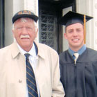 Burton Anderson and Jeffrey Hartmeier at the 2011 graduation ceremonies. PHOTO: Courtesy of Burton Anderson