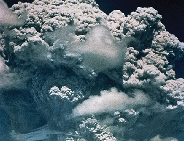 Pumping sulfate particles into the stratosphere could mimic the effects of the 1991 Mt. Pinatubo eruption, when sulfate aerosols in the atmosphere helped lower average global temperatures by preventing sunlight from reaching the ground. PHOTO: Getty Images