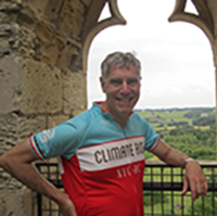 Daniel Lashof in Bordeaux, France, July 2014, sporting a shirt from the fall 2013 New York to Washington, D.C., Climate Ride. PHOTO: Diane Regas