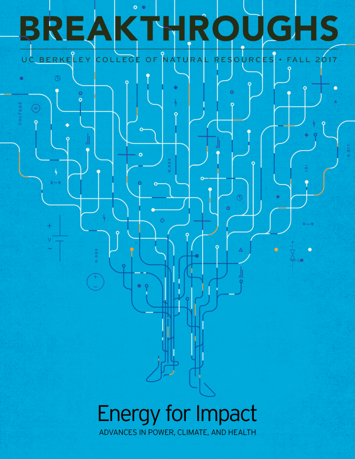 Image of the cover of the Fall 2017 Breakthroughs magazine
