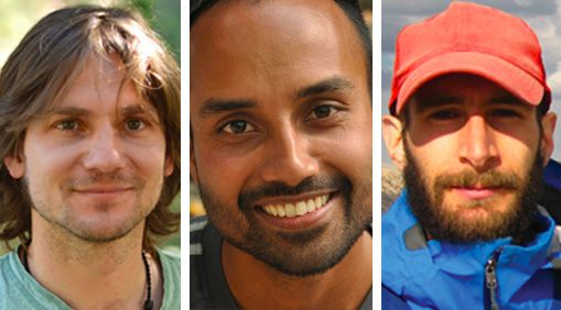Marco Pfeiffer, Ranjit Deshmukh, and Adam Calo are graduate student newsmakers