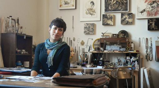 Harrower in her West Berkeley studio.