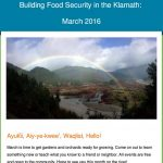 Rainbow over Klamath linked to March Food Security Newsletter