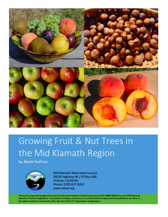 Cover images of apples, peaches, hazelnuts, and fruit plate above title of manual.