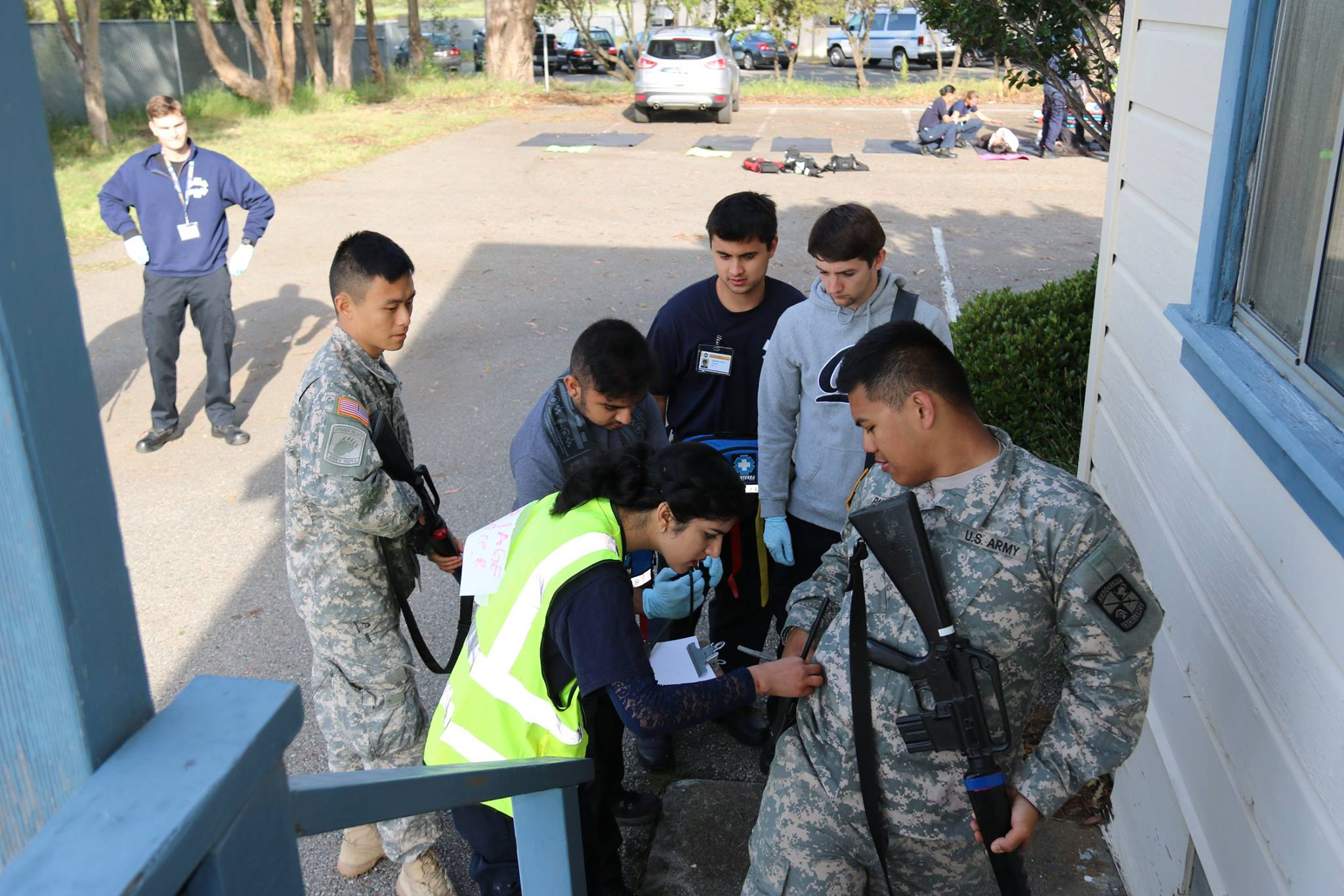 Harshika Chowndry attending to ROTC