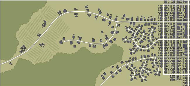 Diagram showing neighborhood