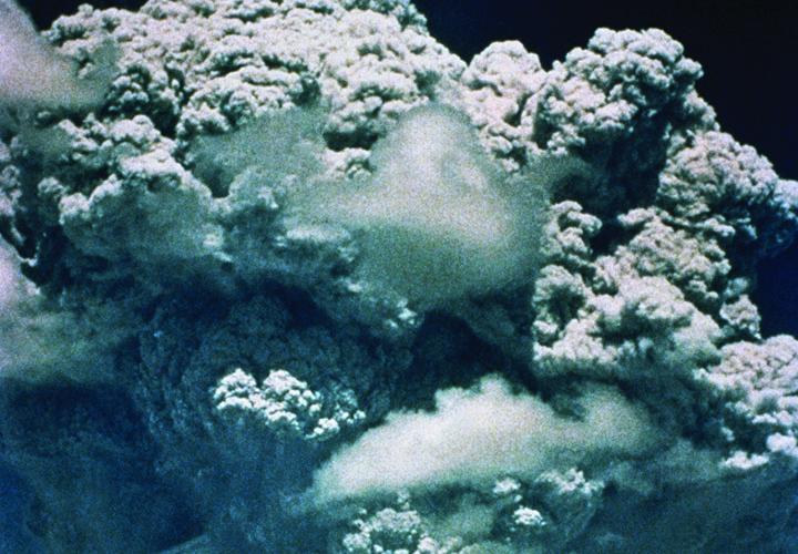 Mt. Panatubo erupting