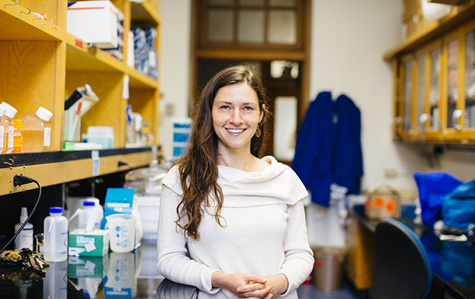 Portrait of Erica Bree Rosenblum in her lab