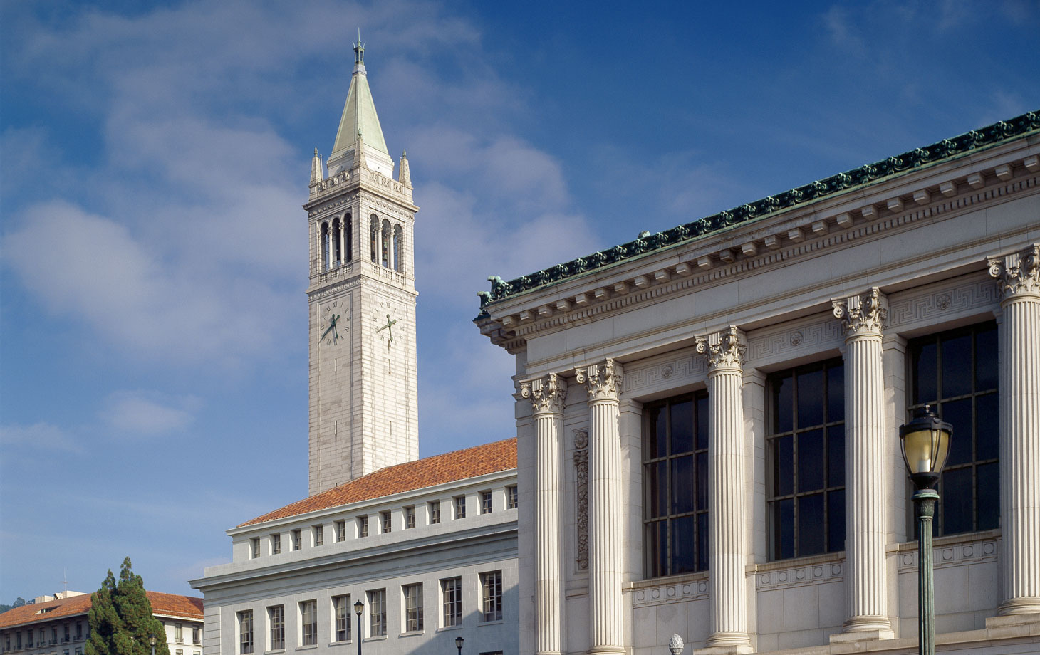 Bancroft library and Sather tower