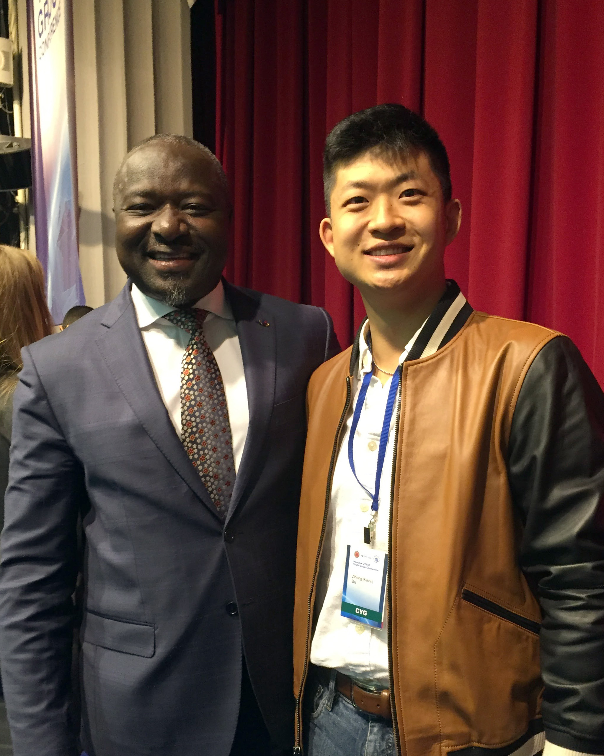 Kevin Bai in Moscow with Dr. Lassina Zerbo, the current secretary of the CTBTO