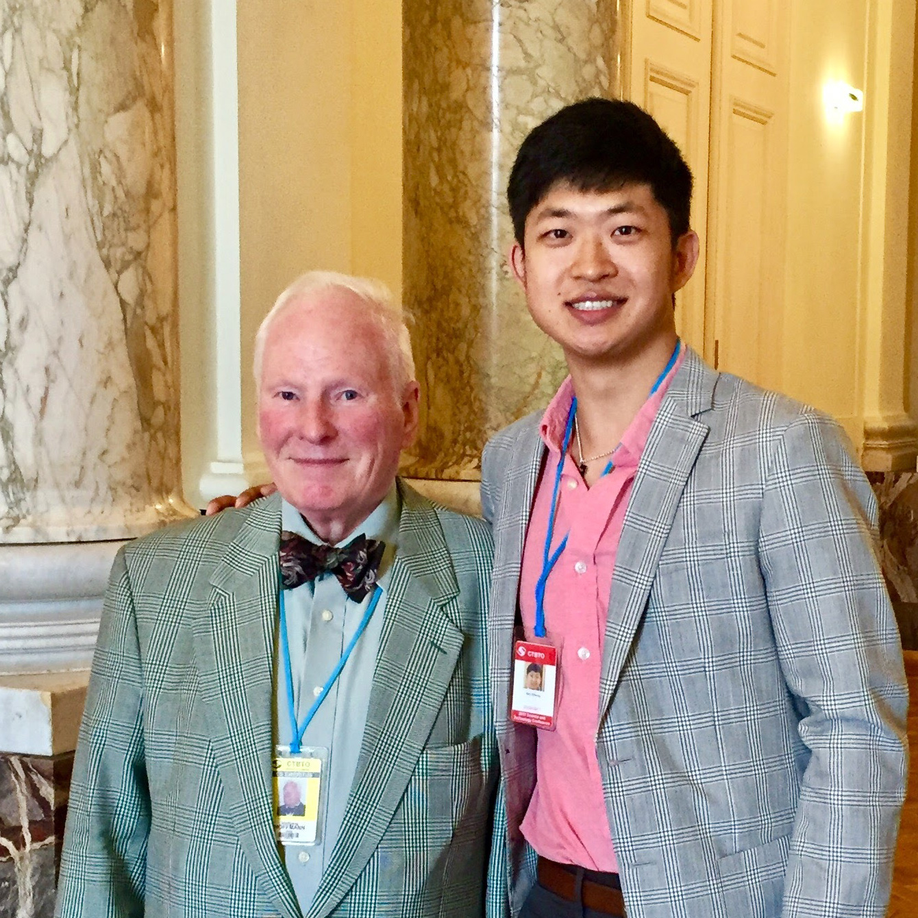 Kevin in Vienna with Wolfgang Hoffman, the founder and first Secretary of the CTBTO and the negotiator of the Comprehensive Nuclear Test Ban Treaty.