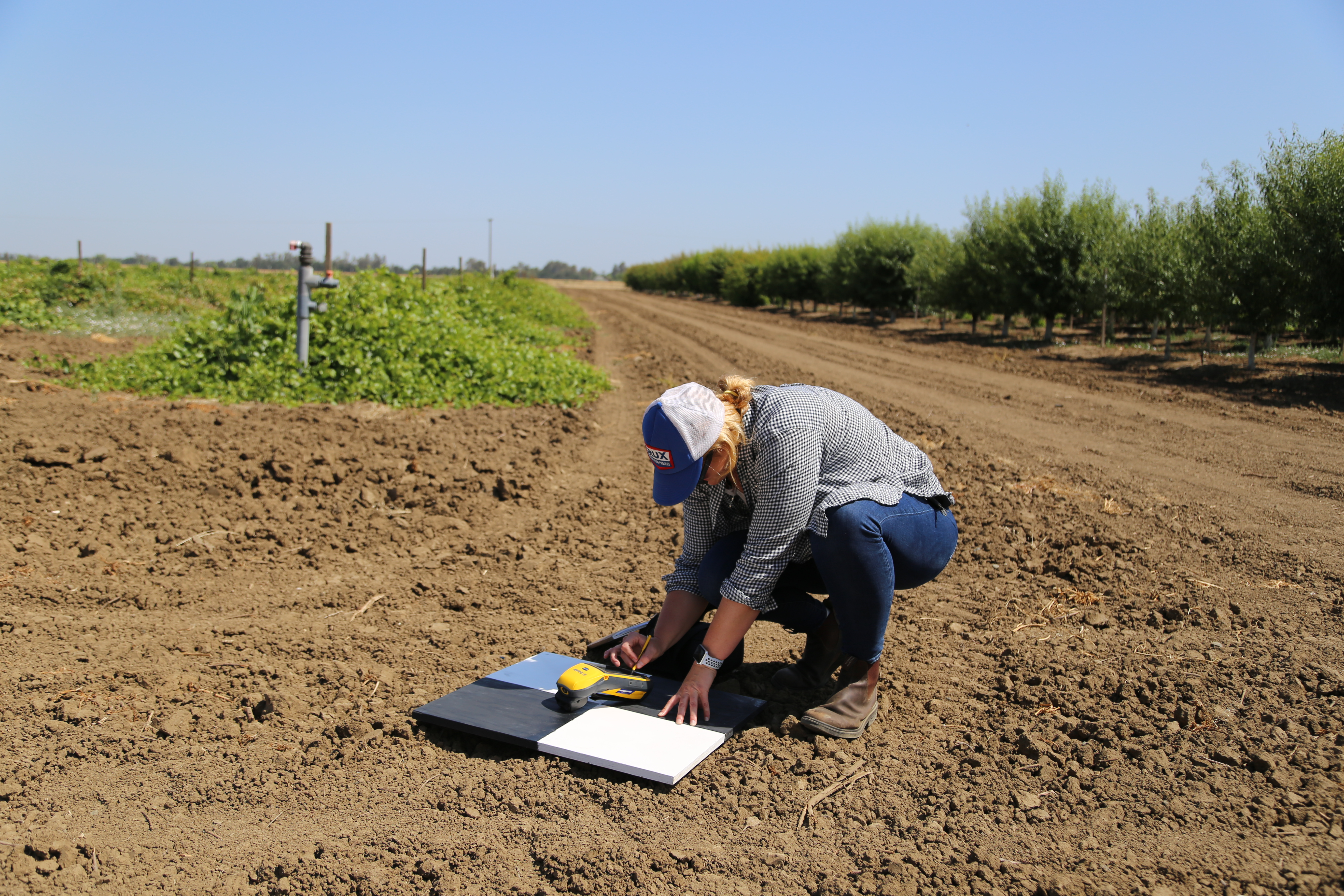 Kelly Collecting GPS locations of ground control targets for drone surveys of agricultural fields