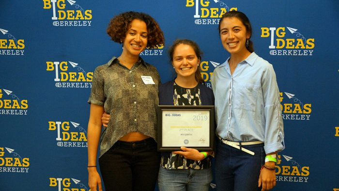 Cara Nolan, Jennifer Liu, and Tamer Saunders at the Big Ideas awards ceremony event