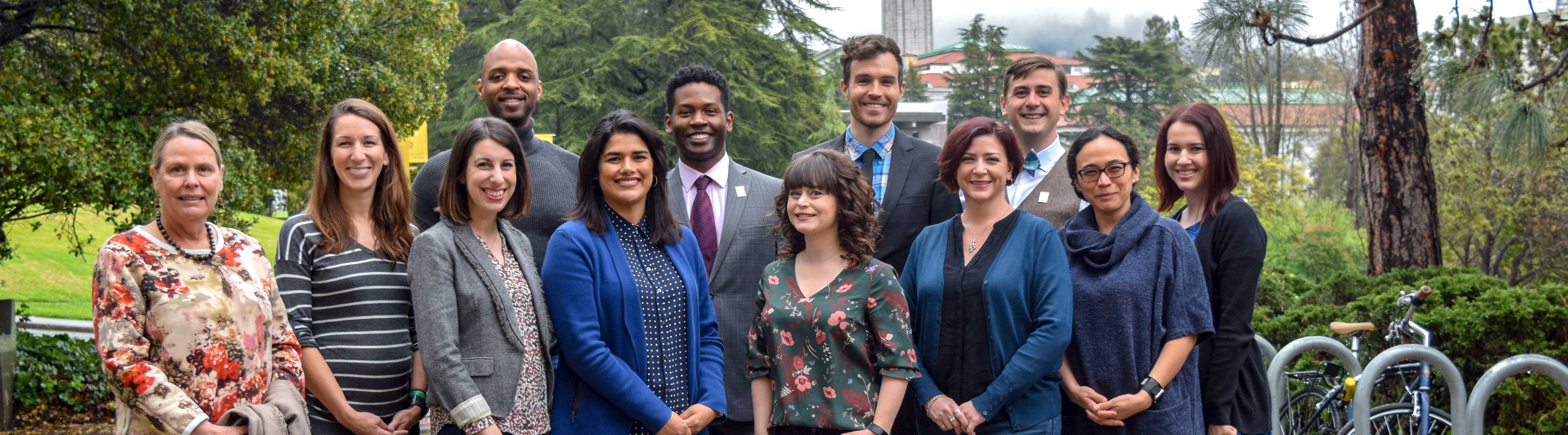 A group of advising staff in the UC Berkeley College of Natural Resources