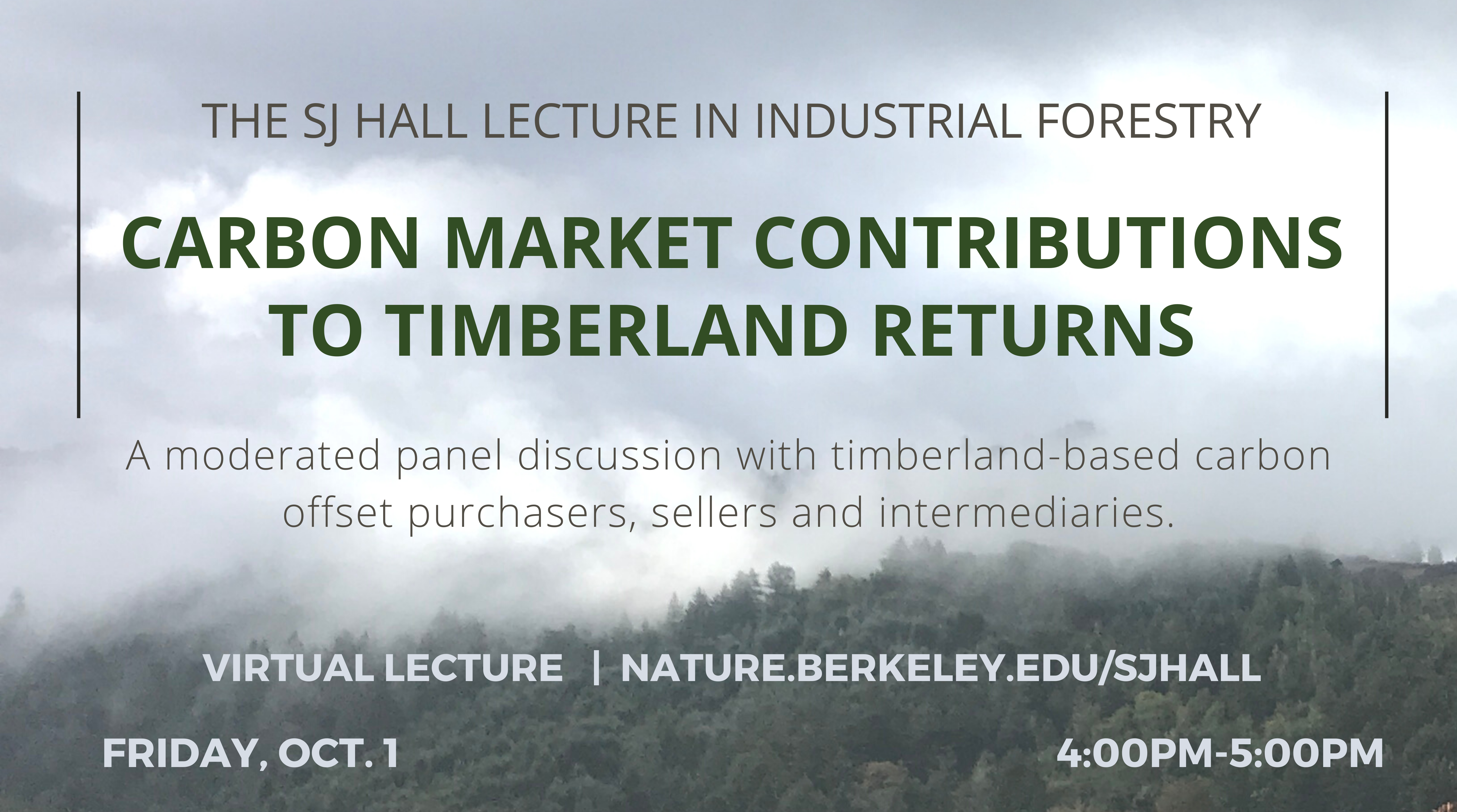 Carbon market contributions to timberland returns. A moderated panel discussion with timberland-bawsed carbon offset purchasers, sellers and intermediaries.