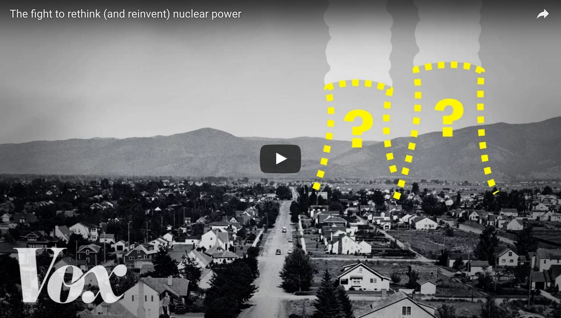 Screenshot of a Vox video on nuclear energy