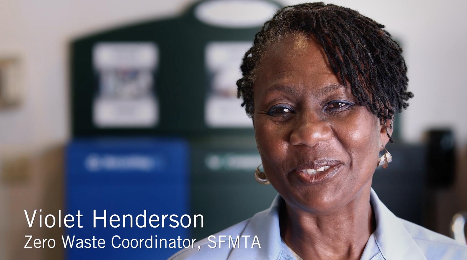 Violet Henderson screenshot from an SFMTA video
