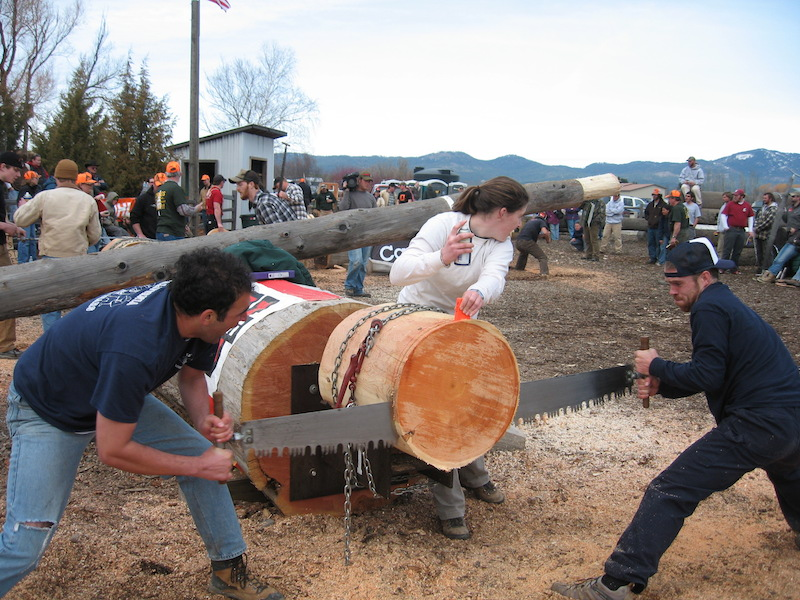 Forestry Club students participate in logging sports competition