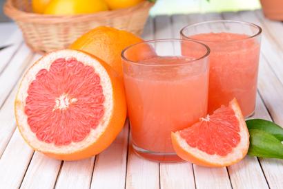 grapefruits and juice