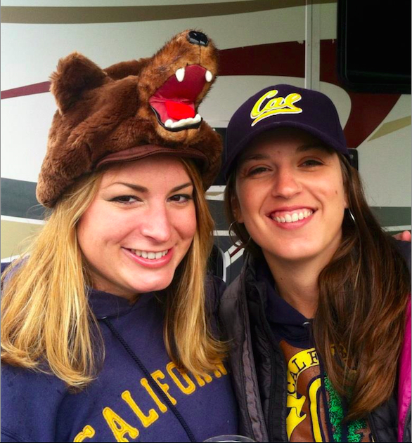 Cal Alumni Foresters Brita Rustad '14, left, with Christina Restaino.
