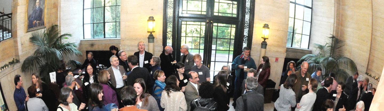 Reception in Giannini Hall foyer