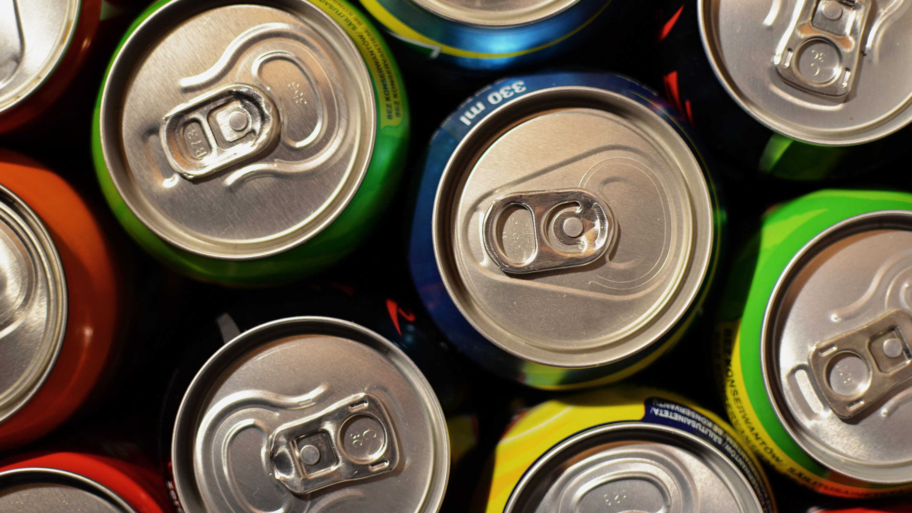 Photo of soda cans.