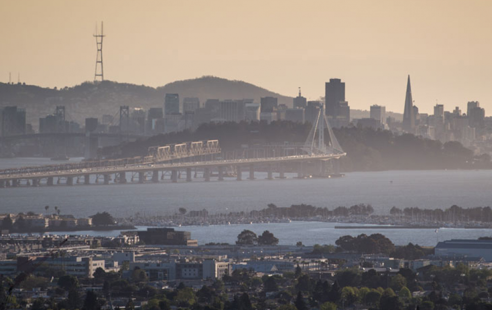 View of the San Francisco - Oakland Bay Bridge
