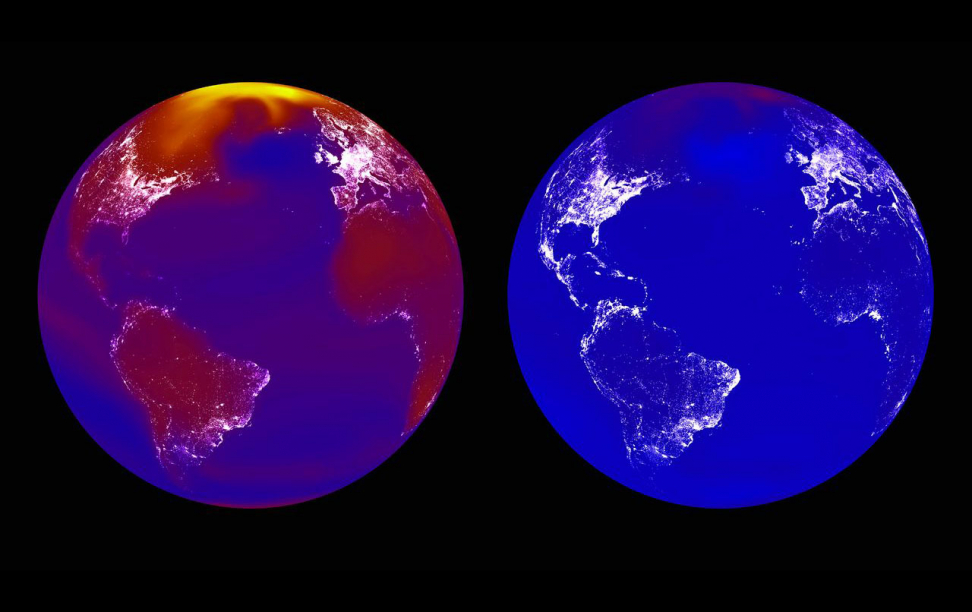 Heat images of the earth