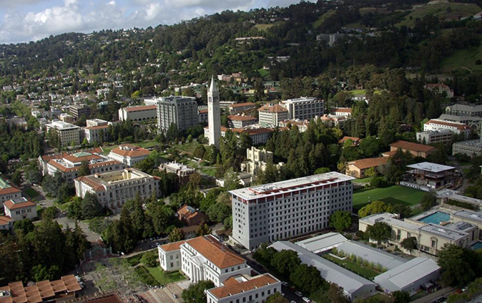 Aerial image of Berkeley campus