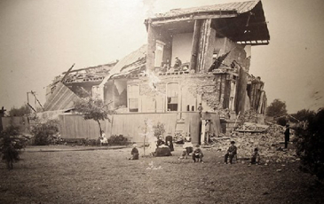 distruction from a 19th century earthquake on the hayward fault