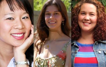 Headshots of the three award winners