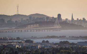 View of the San Francisco - Oakland Bay Bridge