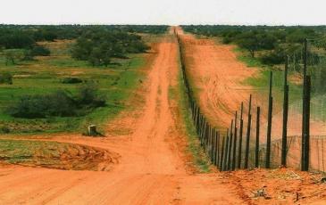 Fence in Australia.