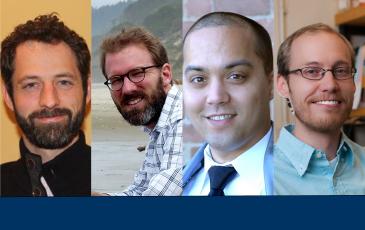 Headshots of James Sallee, David Anthoff, James Olzmann, and Matthew Traxler