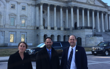 Dean David Ackerly visits the capital
