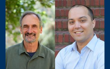 Steven Beissinger and James Olzmann smiling