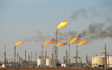 Oil and gas wells flaring