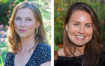 Headshots of Iryna Dronova and Valeri Vasquez.