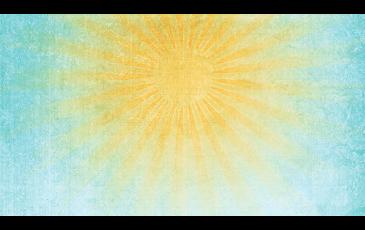 a warm sun