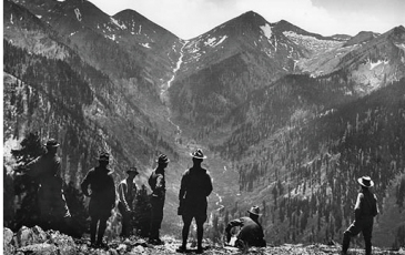 The Mather Mountain Party in 1915