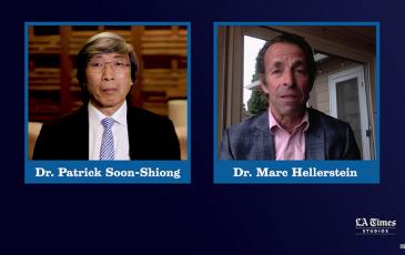 Screenshot of video showing Hellerstein and interviewer