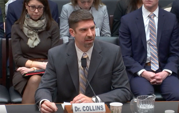 Brandon Collins testifying before two House subcommittees