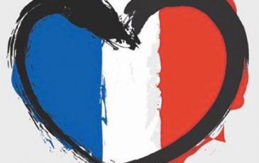 French flag and heart