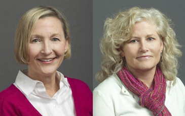 Portraits of Barbara Baker and N. Louise Glass