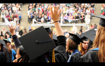 Image of graduates at commencement.