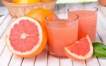grapefruits and juice
