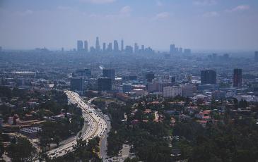 Photo of a California city.