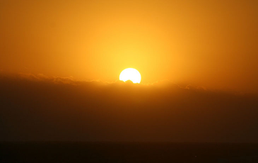 Photo of a sunset.