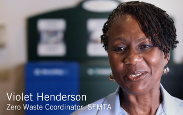 Violet Henderson screenshot from an SFMTA video