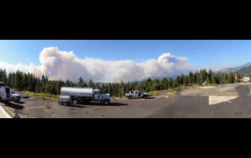 Scene from the Yosemite Rim Fire